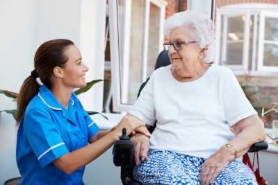 Nurse with elderly lady